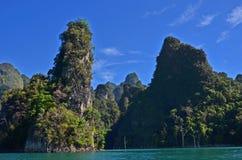 Beautiful mountains in the lake Stock Photo