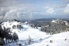 Winter landscape in the mountains Royalty Free Stock Photography