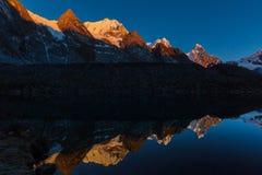 Cordillera. Beautiful mountains landscapes in Cordillera Huayhuash, Peru, South America Royalty Free Stock Photography