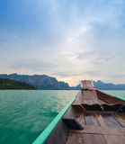 Beautiful mountains and natural attractions on long tail boat in Royalty Free Stock Photos