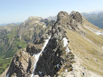 Beautiful mountains and nature view. With snow, top mountain, Allgäu Alps stock photos