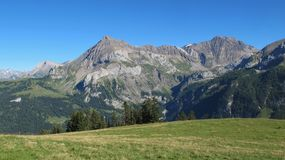 Beautiful mountains near Gstaad Stock Image