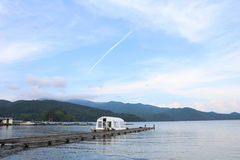 Beautiful mountains and  Nojiri  Lake in summer, the town of Shi Royalty Free Stock Images