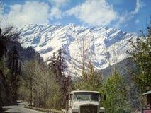 Beautiful mountains of manali stock image