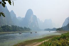 Beautiful mountains and river in Guilin, China Royalty Free Stock Photography