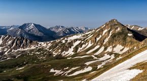 Beautiful mountains of the Sawatch Range. Colorado Rocky Mountains. Casco, Frasco, & French. Three rugged mountains of the Sawatch Range, Colorado Rockies stock photography