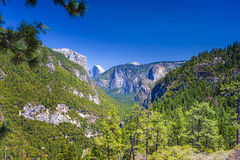 Beautiful Mountains Shot from High Poing in Yosemite National Pa Royalty Free Stock Image