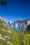 Beautiful Mountains Shot from High Poing in Yosemite National Pa Royalty Free Stock Images