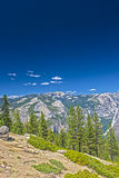 Beautiful Mountains Shot from High Poing in Yosemite National Pa Stock Photo