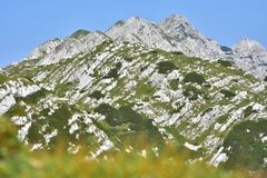 Beautiful mountains in Slovenia. In Triglav National park Royalty Free Stock Photos