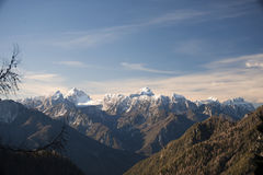Beautiful mountains on a sunny day in winter time Royalty Free Stock Photos