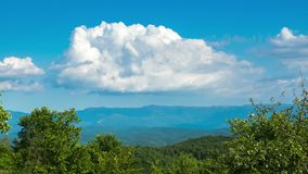 Beautiful mountains on a sunny summer day. Time-lapse stock video footage