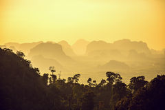 Beautiful mountains on sunset Stock Photos