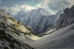 Beautiful mountains. Top view of the Alps in Slovenia and unspoiled nature Stock Photography