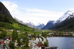 Mountains and Valley Landscape_Cityscape_Norway Stock Image