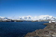 Beautiful mountains. Beautiful view of mountains in Antarctica stock images