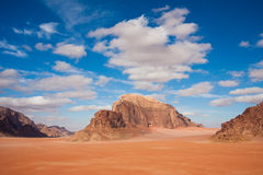 Beautiful mountains in Wadi Rum Royalty Free Stock Photography