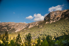 Beautiful mountains on the western part of Mallorca island, Spai Stock Image