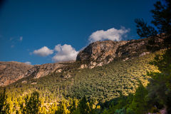 Beautiful mountains on the western part of Mallorca island, Spai Stock Images