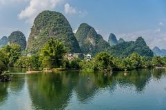 Beautiful mountains in Yangshuo Royalty Free Stock Photos
