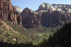 The beautiful mountains of Zion NP Stock Photography