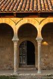 Beautiful mozarabic archs in church entrance Royalty Free Stock Photo