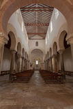 Beautiful Mozarabic church of San Cebrian de Mazote Royalty Free Stock Images