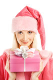 Beautiful mrs. Santa Stock Image