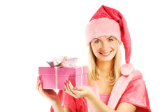 Beautiful Mrs. Santa Royalty Free Stock Photo