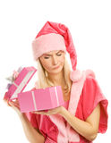 Beautiful mrs. Santa Stock Photography