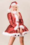 Beautiful mrs. Santa Royalty Free Stock Photos