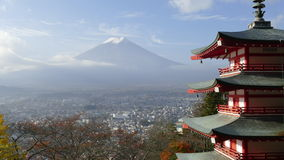 Beautiful of Mt. Fuji with fall colors in Japan Stock Image