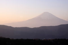 Beautiful Mt. Fuji in Japan during sunset Stock Images