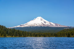 Beautiful Mt. Hood and Trillium Lake Stock Photography