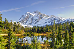 Beautiful Mt. Shuksan and Picture Lake Royalty Free Stock Photography