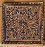 Beautiful Mud work handmade design Royalty Free Stock Image