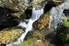 Beautiful Muehtinsky waterfall in Altai Republic Royalty Free Stock Photo