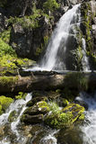 Beautiful Muehtinsky waterfall in Altai Republic Royalty Free Stock Images