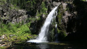 Beautiful Muehtinsky waterfall in Altai Republic stock video footage