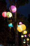 Beautiful multi color chinese lantern is colorful Stock Photography