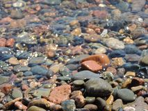 Stony bottom under water. royalty free stock images