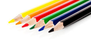 Beautiful multi-colored pencils Royalty Free Stock Images