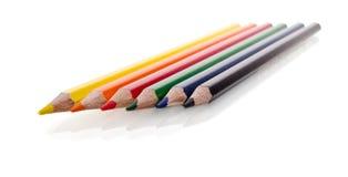 Beautiful multi-colored pencils Stock Photo
