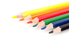 Beautiful multi-colored pencils Royalty Free Stock Photo