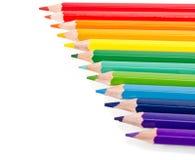 Beautiful multi-colored pencils Stock Image