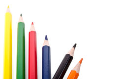 Beautiful multi-colored pencils Royalty Free Stock Photography