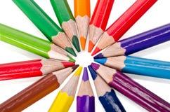 Beautiful multi-colored pencils Stock Images