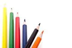 Beautiful multi-colored pencils Stock Photos