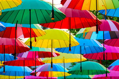 Beautiful multi-colored umbrellas Royalty Free Stock Photo
