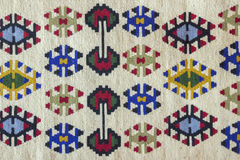 Beautiful and multi coloured Pirot kilim Stock Photography